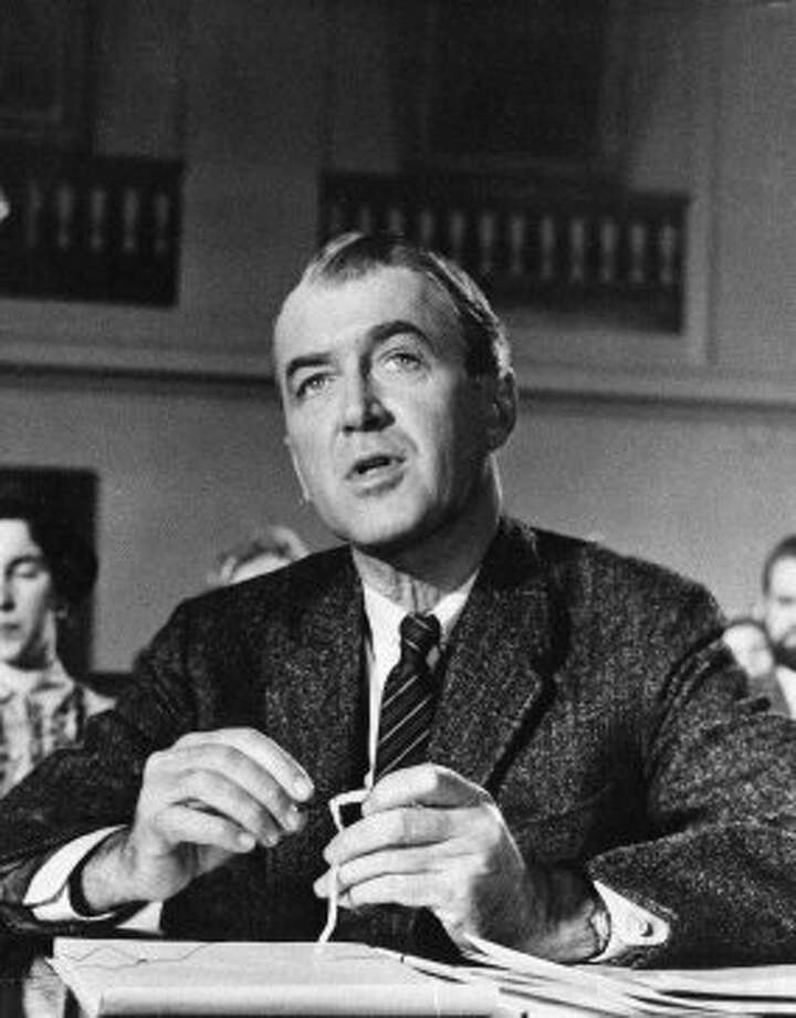 "Actor Jimmy Stewart is shown in the 1959 film, ""Anatomy of a Murder"" for which he received Academy Award nomination for best actor.  (AP Anonymous / Associated Press)"