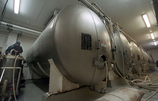 Fermentation tanks at the Shiner Brewery. Staff Photo By: john Davenport, 98-1675. Photo: JOHN DAVENPORT, SAN ANTONIO EXPRESS-NEWS / SAN ANTONIO EXPRESS-NEWS