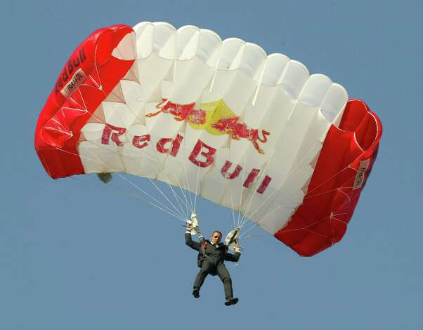 Felix Baumgartner wears a different kind of suit for this arrival at the Taurus World Stunt Awards at Paramount Studios June 1, 2003 in Hollywood, Calif. Photo: Frazer Harrison, Getty Images / 2003 Getty Images
