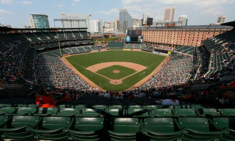 17. Oriole Park at Camden Yards, home of the Baltimore Orioles. Homes cost $172 per square foot, 1.25 times the area average. Photo: Getty Images