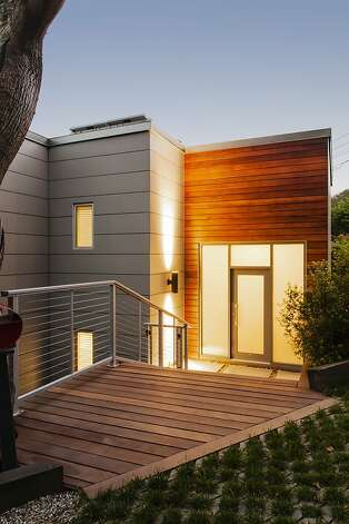 The updated home at 107 Prospect Ave. in Sausalito spans three levels. Photo: Catherine Nguyen