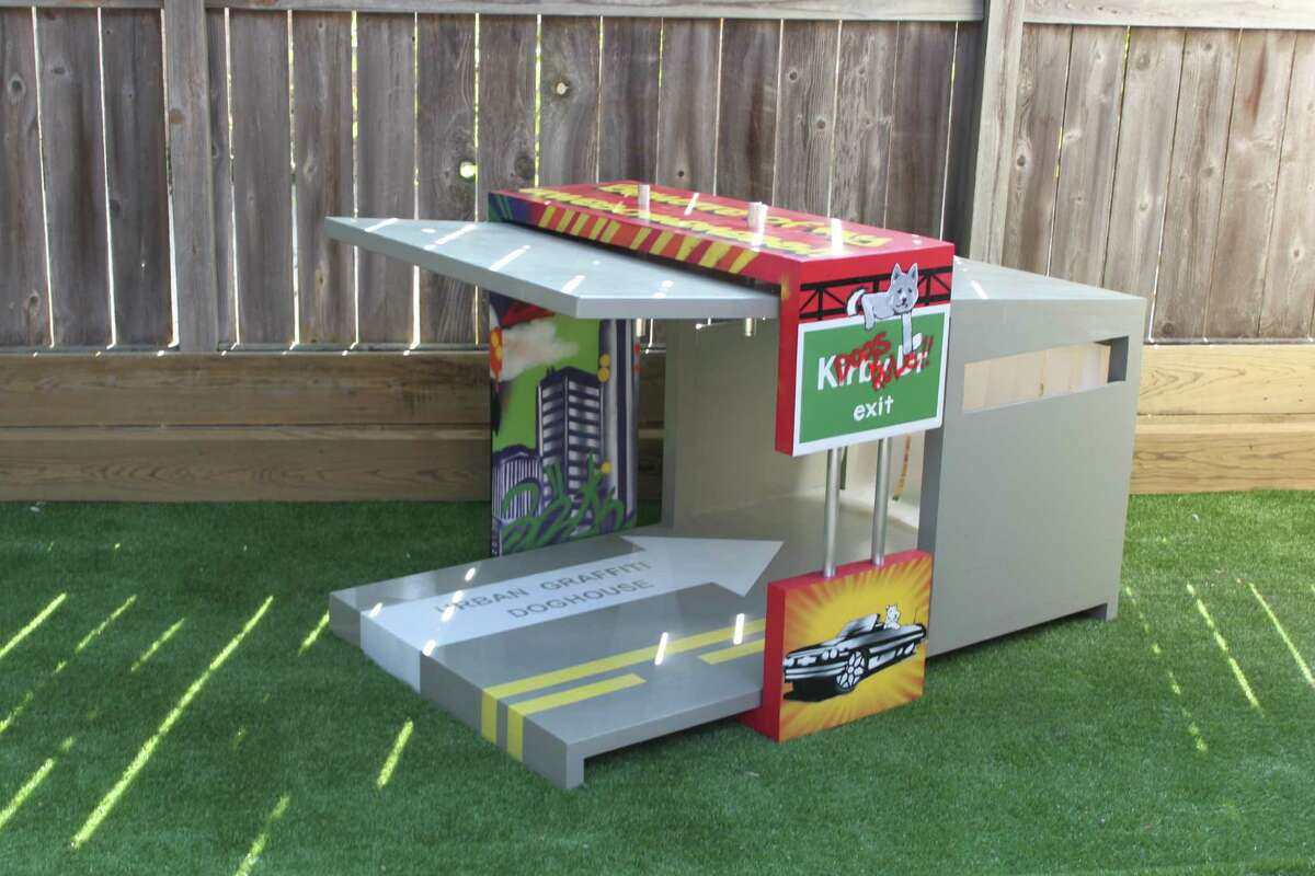 This dog house is one of the PBK architectural firm's entries in the the 2012 Barkitecture competition.