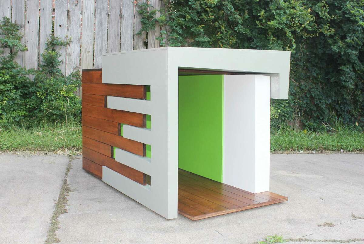 A dog house completed by the PBK architectural firm for the 2012 Barkitecture competition.