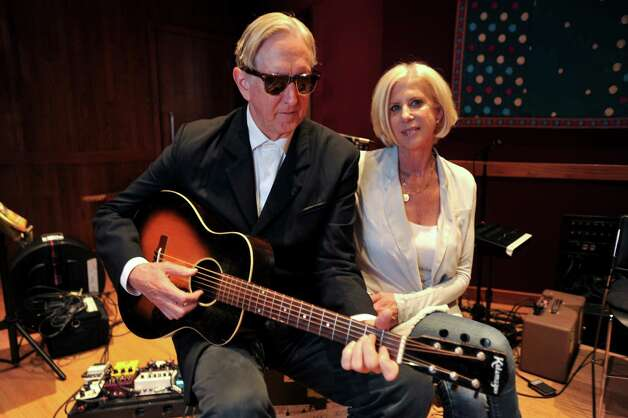 "Callie Khouri, right, and her husband, T Bone Burnett, take a break from working on the soundtrack to their new ABC television drama, ""Nashville,"" at the House of Blues recording studio in Nashville, Tenn., Sept. 25, 2012. The creators of show are not only seeking an accurate portrayal of the country music industry, they also want to get the city right. (Christopher Berkey/The New York Times) -- PHOTO MOVED IN ADVANCE AND NOT FOR USE - ONLINE OR IN PRINT - BEFORE OCT. 7, 2012. -- Photo: CHRISTOPHER BERKEY, STR / NYTNS"