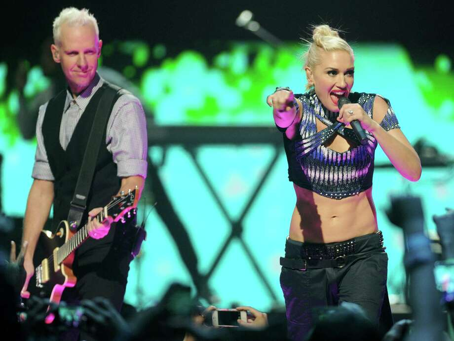 Tom Dumont and Gwen Stefani of No Doubt perform at last month's iHeart Radio Music Festival in Las Vegas. Photo: Eric Reed, Associated Press / Invision
