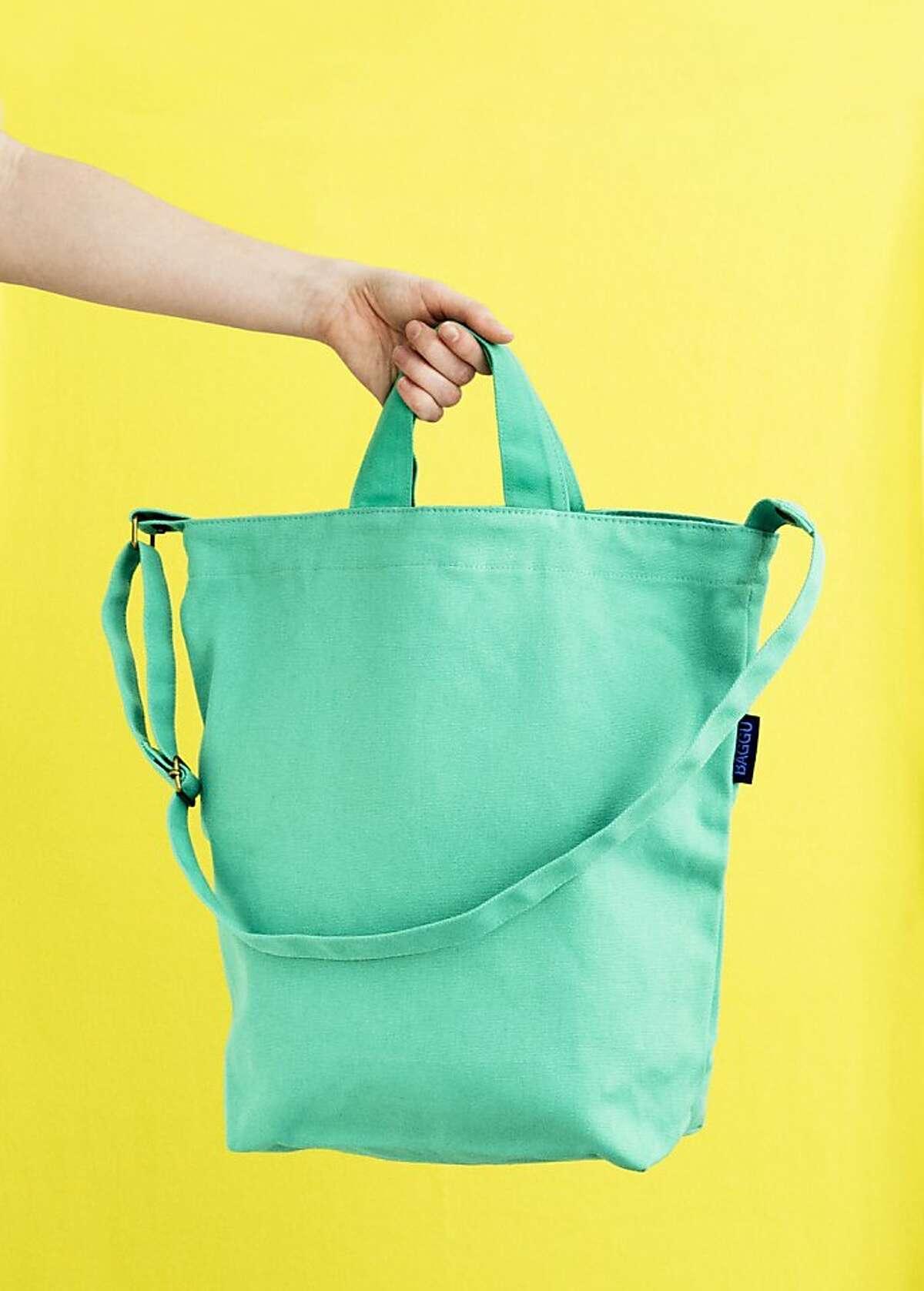 Less: $28 Canvas Duck Bag by Baggu