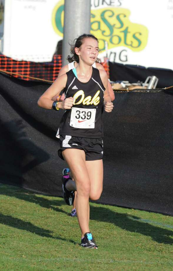Klein Oak sophomore Erica Moorhead (339) at the Nike South Invitational on 10-6-12 at The Woodlands. Photo: L. Scott Hainline