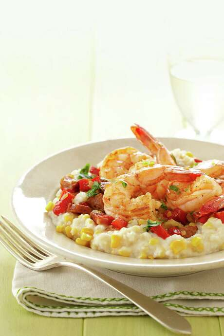 Good Housekeeping recipe for Shrimp and Fresh Corn Grits. Photo: Kate Mathis
