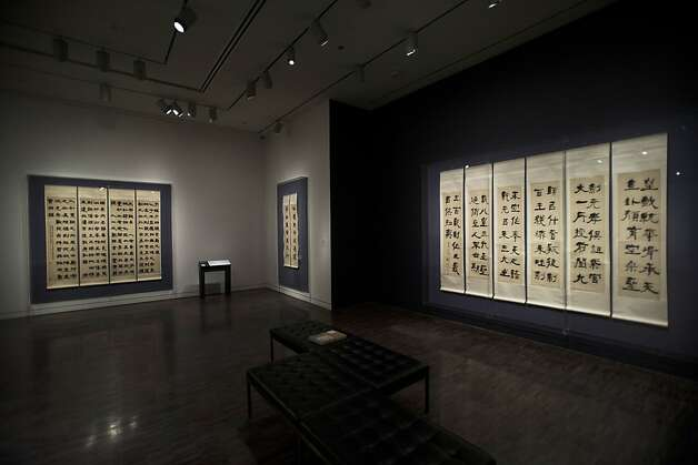 "The Asian Art Museum's ""Out of Character: Decoding Chinese Calligraphy"" gives most of the public a first look at one of the finest private collections. Photo: Stephen Lam, Special To The Chronicle"