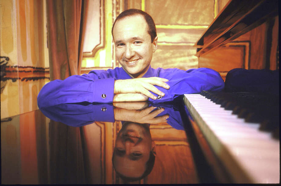 Composer-lyricist & cabaret performer Steven Lutvak in smiling portrait at piano at Arci's Place.  (Photo by Ted Thai//Time Life Pictures/Getty Images) Photo: Ted Thai, Time & Life Pictures/Getty Image / Time & Life Pictures