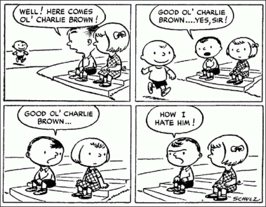 "The first ""Peanuts"" strip ran on Oct. 2, 1950 and was initially carried in a handful of newspapers. It ran for nearly 50 years, almost without interruption, until 2000. At its peak, it appeared in more than 2,600 newspapers in 75 countries. (Seattle Post-Intelligencer archive)"