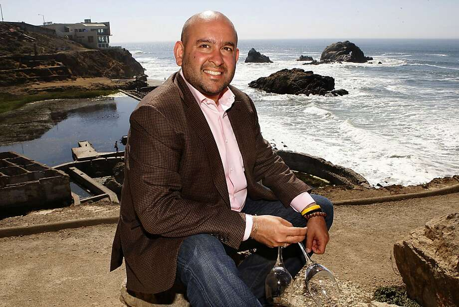 "Sommelier Raj Parr at the Sutro Baths ruins near the Cliff House, one of his favorite spots for its ""unbeatable views,"" which he has spent a lot of time capturing with his camera. Photo: Liz Hafalia, The Chronicle"