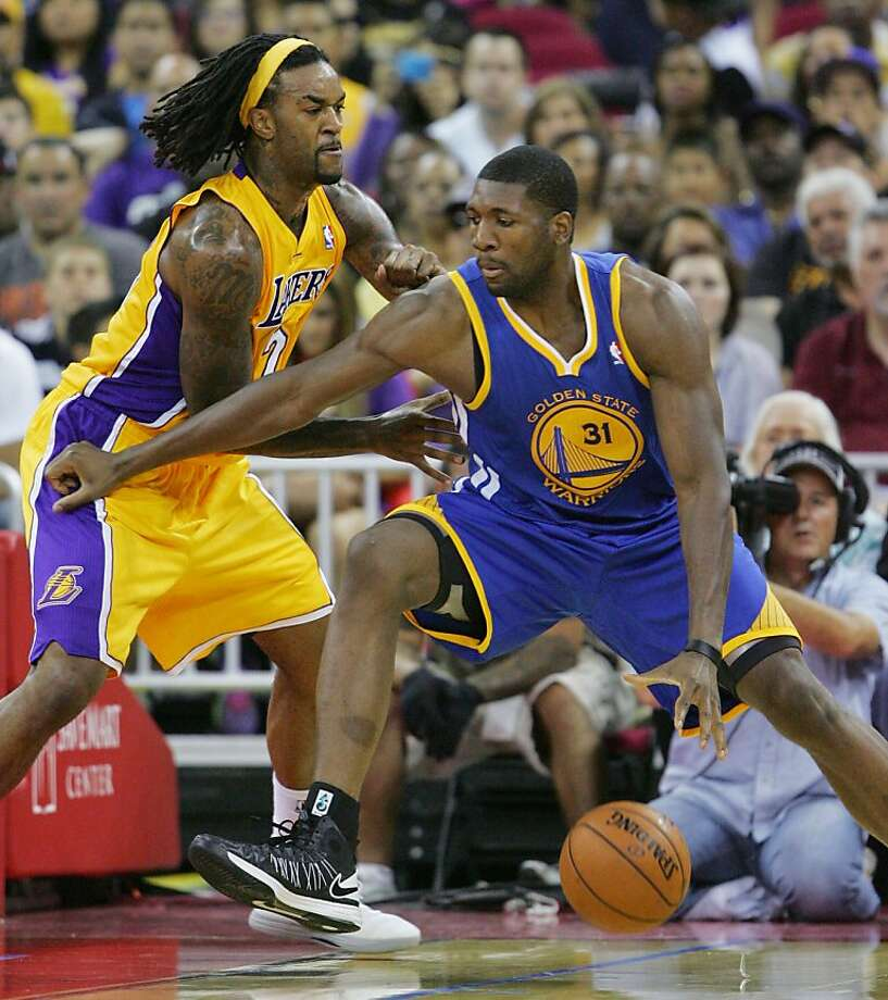 Festus Ezeli's success in the first two preseason games makes him a candidate for serious minutes, even when Andrew Bogut returns from injury. Photo: Gary Kazanjian, Associated Press