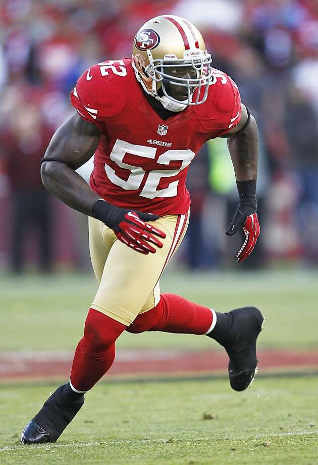 San Francisco 49ers inside linebacker Patrick Willis during the second quarter of an NFL football game against the Detroit Lions in San Francisco, Sunday, Sept. 16, 2012. (AP Photo/Tony Avelar) Photo: Tony Avelar, Associated Press