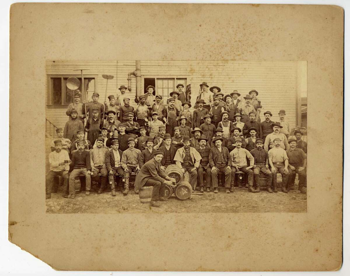 Historic photograph of workers at the Lone Star Brewery. Courtesy photo / Witte Museum