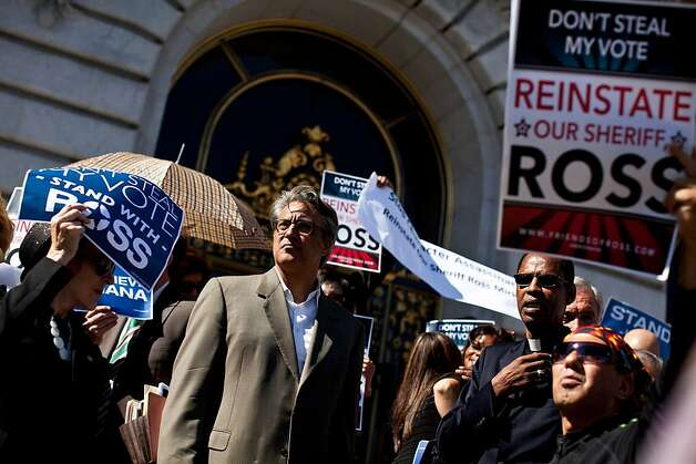 Former Sheriff Ross Mirkarimi attends a rally on the steps of City Hall before his hearing with the Board of Supervisors in San Francisco, Calif., Tuesday, October 9, 2012. Photo: Jason Henry, Special To The Chronicle