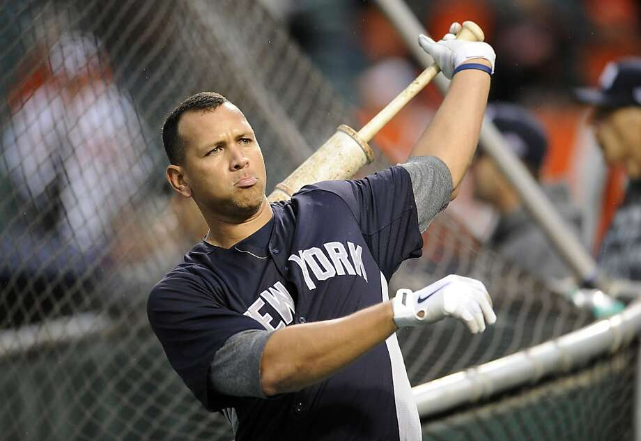 Alex Rodriguez has one hit and five strikeouts in Games 1 and 2, a far cry from his .455, six-RBI ALDS performance in 2009. Photo: Nick Wass, Associated Press