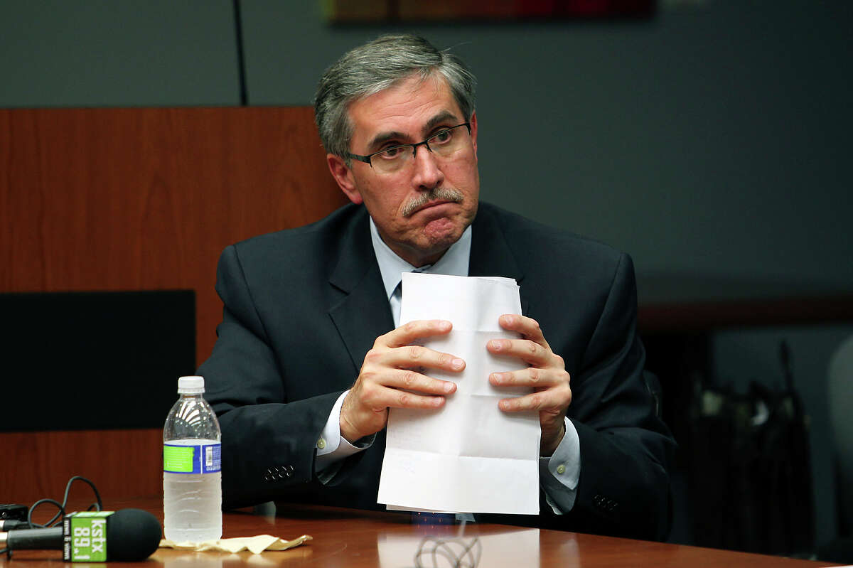 Deputy City Manager Pat DiGiovanni goes before an ethics review board to examine whether he violated the city ethics code when he served on a committee evaluating Zachry Corporation for a city contract. October 9, 2012.