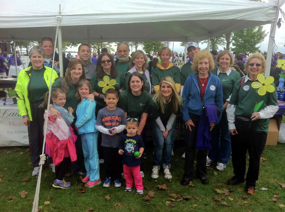 Members of Waveny Care Networkís 2012 Memory Walk team, the ìWaveny Walkers,î raised close to $3,000 in contributions for the Alzheimerís Association that will be used to fund essential care and support services for people with Alzheimerís disease. Photo: Contributed Photo