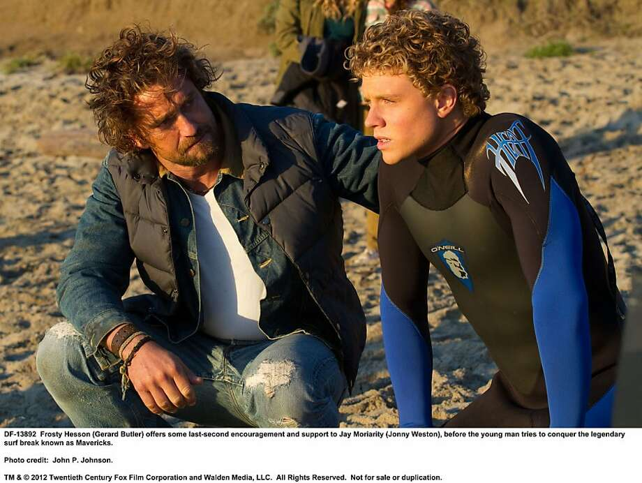 "Jonny Weston, who plays soul-surfing legend Jay Moriarity in ""Chasing Mavericks,"" surfed as a boy in South Carolina. Photo: John P. Johnson, 20th Century Fox"