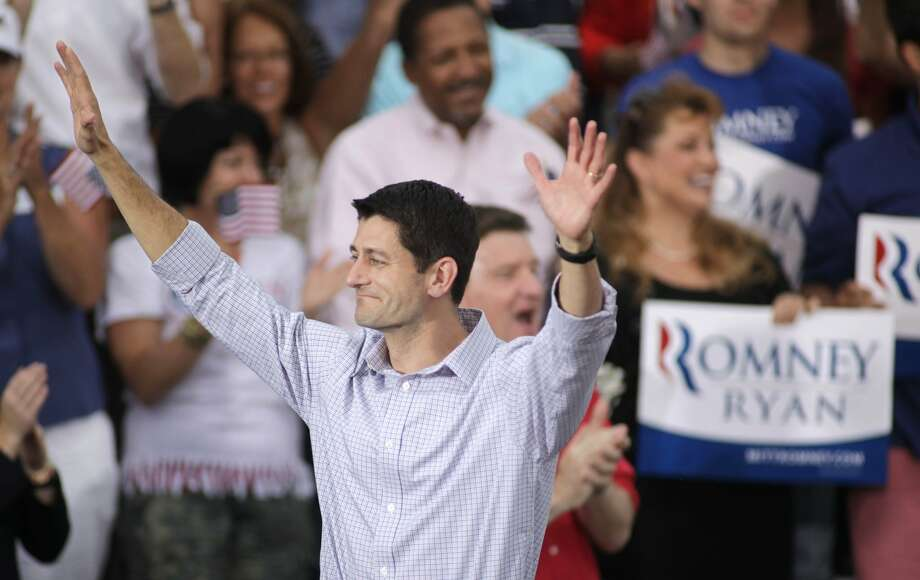 WAUKESHA, WI - AUGUST 12: Republican vice presidential candidate and Wisconsin native Rep. Paul Ryan (R-WI) greets supporters during a campaign event at the Waukesha Expo Center on August 12, 2012 in Waukesha, Wisconsin. Romney continues his four day bus tour a day after announcing his running mate, Rep. Paul Ryan. (Photo by Darren Hauck/Getty Images) (Darren Hauck / Getty Images)