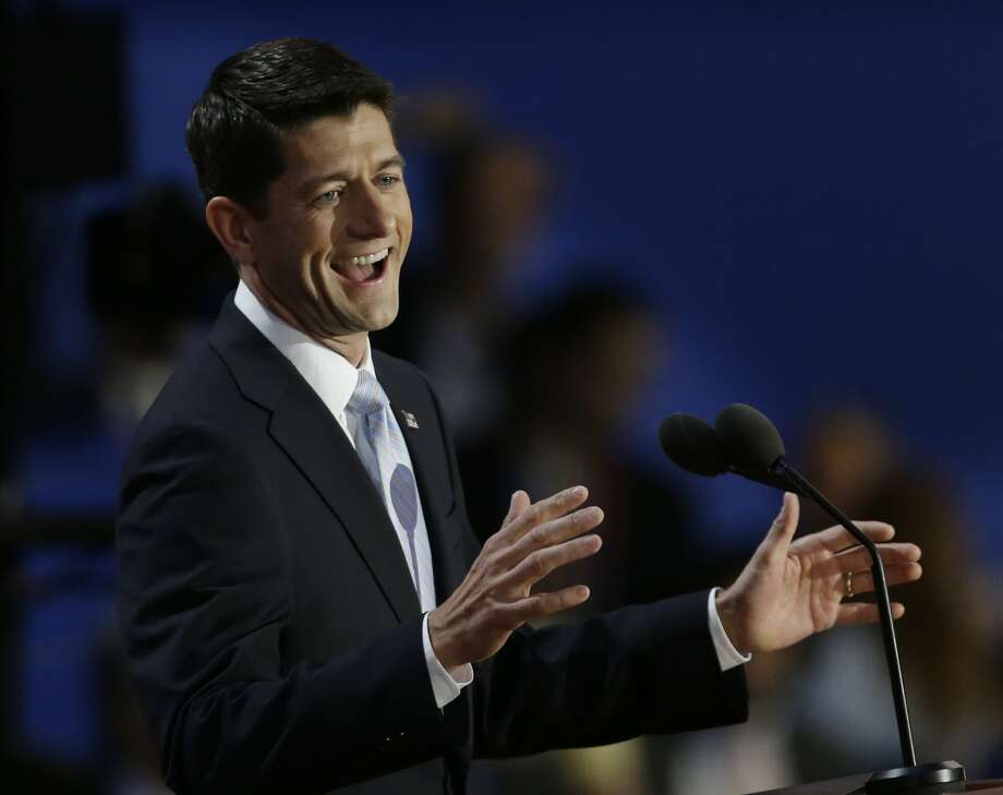 Republican vice presidential nominee, Rep. Paul Ryan speaks to delegates during the Republican National Convention in Tampa, Fla., on Wednesday, Aug. 29, 2012.(AP Photo/Charlie Neibergall) (Associated Press)