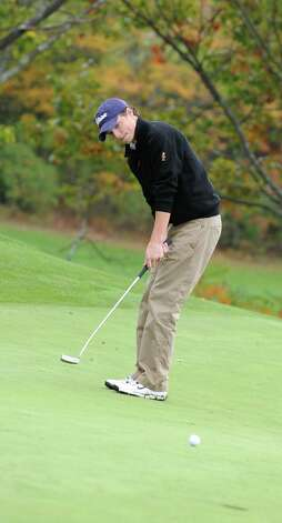 Davis Jensen of Shaker H.S. putts during the Section II A-B-C-D golf championships at Orchard Creek Golf Course Tuesday, Oct. 9, 2012 in Altamont, N.Y. (Lori Van Buren / Times Union) Photo: Lori Van Buren