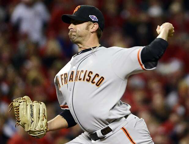 Jeremy Affeldt blew through two of the five scoreless innings delivered by the Giants' bullpen. Photo: Michael Keating, Associated Press