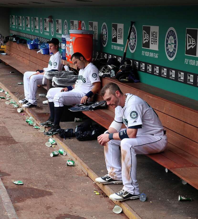Down on their luck: The Mariners' longest losing streak of the season was seven games bridging late April and early May. That's far better than the 2011 M's, whose season went down the toilet after a 17-game losing streak midseason. Photo: Otto Greule Jr, Getty Images / 2012 Getty Images