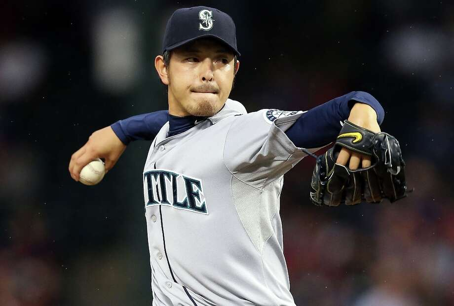 The bear: Reliever-turned-starter Hisashi Iwakuma, whose nickname Kuma means bear in Japanese, posted the best ERA by a rookie pitcher in Mariners history. In 14 relief appearances and 16 starts, he recorded a 3.16 ERA in his first year playing American ball. Photo: Ronald Martinez, Getty Images / 2012 Getty Images