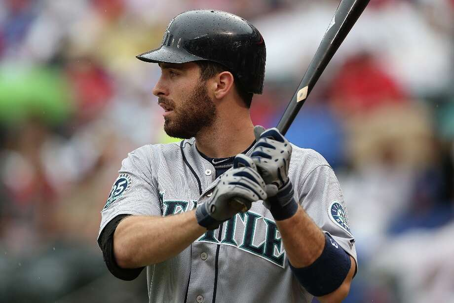 Ack attack: Second-baseman Dustin Ackley went on a 13-game hitting streak in May, when he switched to the leadoff spot for a while. The longest Mariners hitting streak came in 2009, when Ichiro Suzuki hit in 27-straight games. Photo: Ronald Martinez, Getty Images / 2012 Getty Images