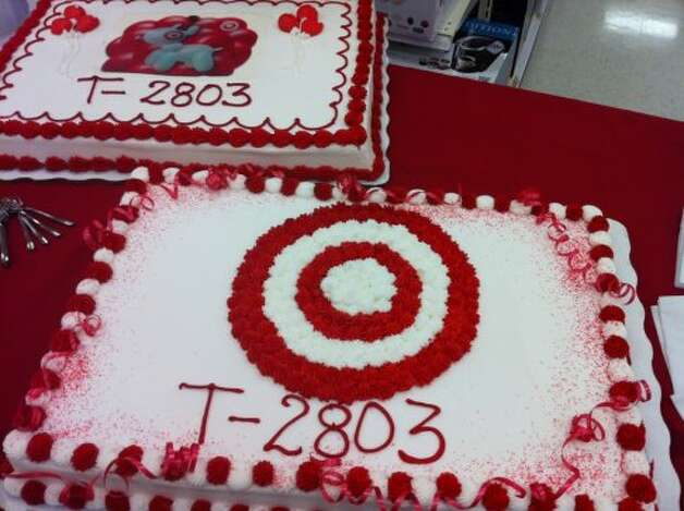 Target members celebrated the opening of the new store with cake.