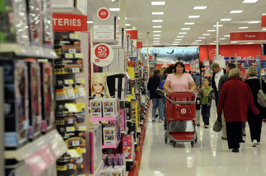 Shoppers get a first look during a preview of the newest Target store in Glenville, NY Tuesday Oct. 9, 2012. (Michael P. Farrell/Times Union) Photo: Michael P. Farrell