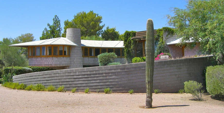 Frank Lloyd Wright designed this Phoenix home for his son and daughter in law, David and Gladys (Photo by Scott Jarson  / savethewrighthouse.org)