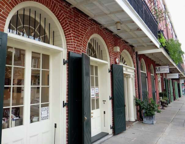 Art galleries, housed in former warehouses, line Julia Street in the Arts District of New Orleans. Photo: Tracy Hobson Lehmann, San Antonio Express-News