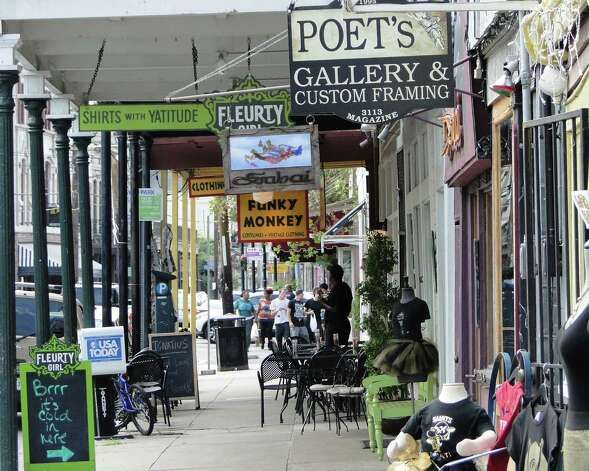 Funky shops line Magazine Street in New Orleans. Photo: Tracy Hobson Lehmann, San Antonio Express-News