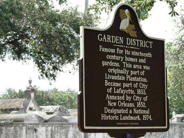 Like many of the historic neighborhoods in New Orleans, the Garden District once was part of a plantation. The area was part of the city of Lafayette before being annexed by New Orleans in 1852. Photo: Tracy Hobson Lehmann, San Antonio Express-News