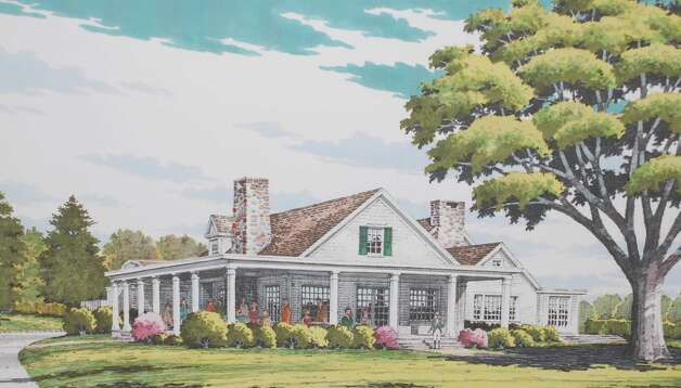 Drawing shows details of proposed addition to the Fairfield County Hunt Club endorsed by the Architectural Review Board on Tuesday night. Photo: Jarret Liotta / Westport News contributed