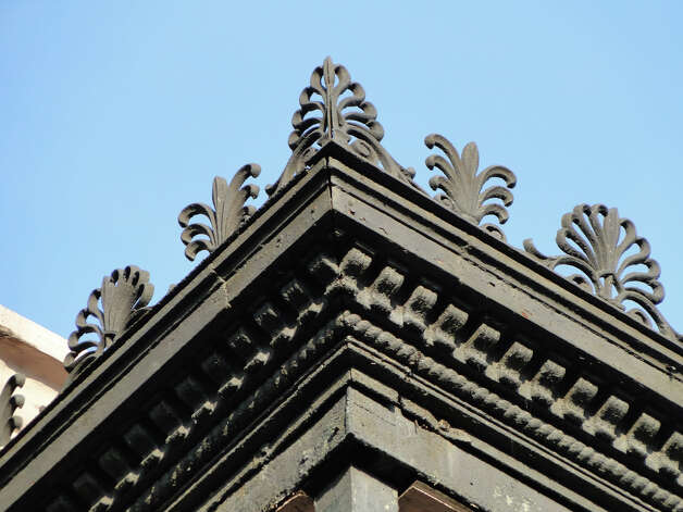 Detail of ornate ironwork on the Morris-Israel House at 1331 First St. in the Garden District of New Orleans. A walking tour of the district, starting on Prytania Street, offers a glimpse of the area's rich architectural history. Photo: Tracy Hobson Lehmann, San Antonio Express-News