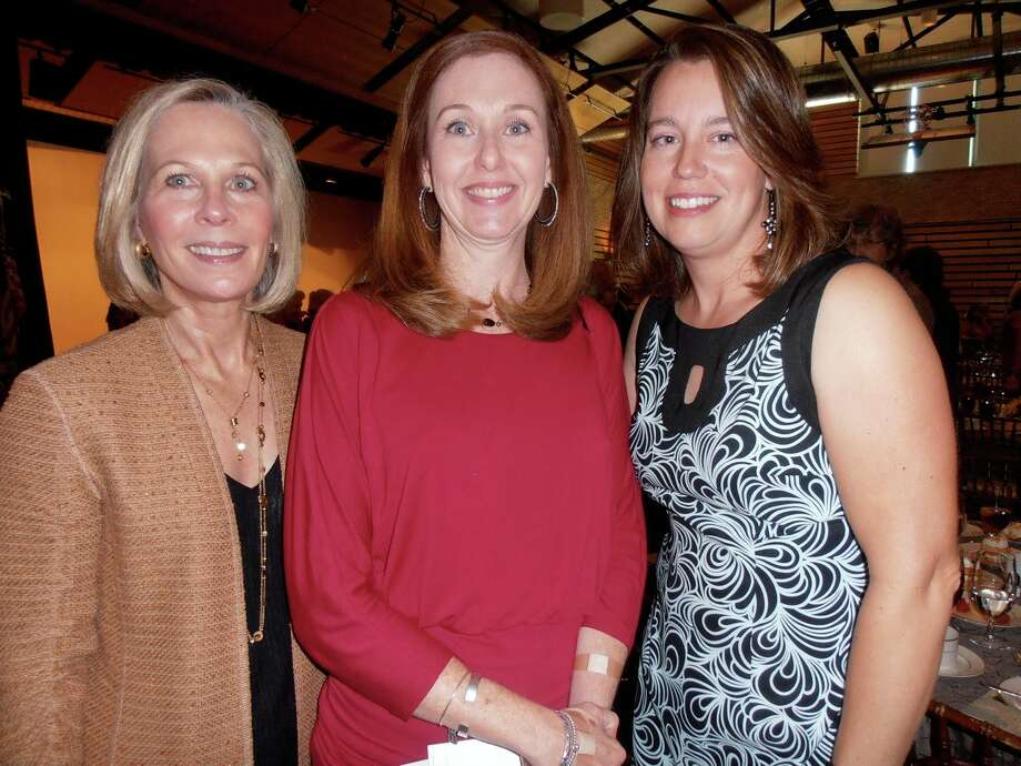 Longtime supporter Jan Meadows, from left, parent adviser Donna Kramer and parent Becky Lowell gather at the Sunshine Cottage Legacy Luncheon honoring the Junior League of San Antonio. Photo: Nancy Cook-Monroe, San Antonio Express-News