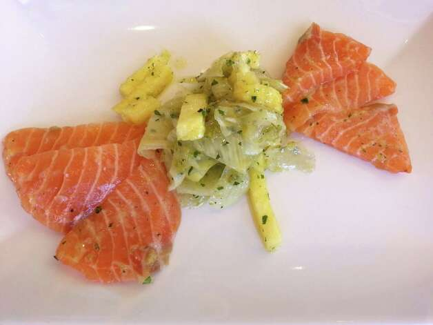 For SA Life Just a Taste: Salmon sashimi: Atlantic salmon, fennel & pineapple salad at Nosh. Photo: San Antonio Express-News
