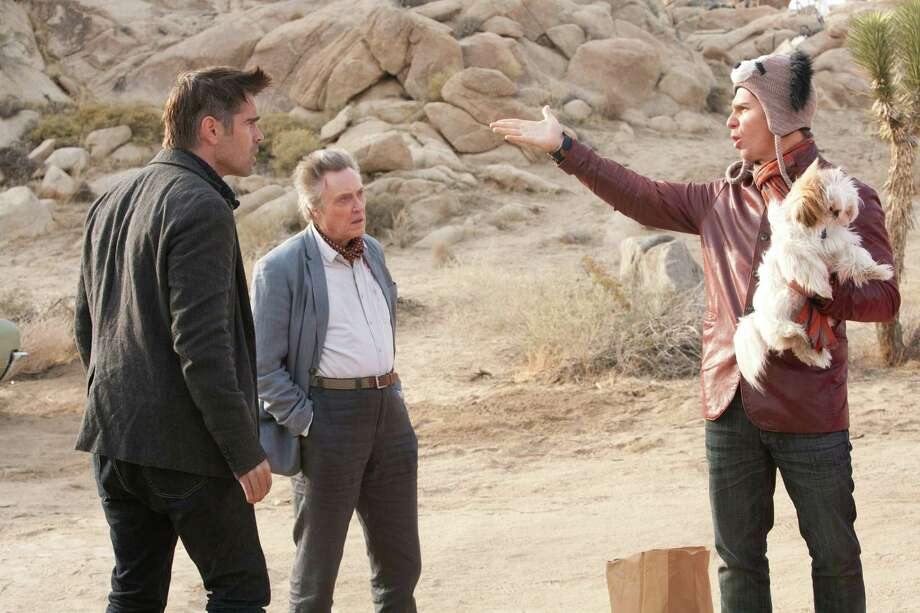 Colin Farrell (as Marty), Sam Rockwell (as Billy), and Christopher Walken (as Hans) star in CBS Films' comedy SEVEN PSYCHOPATHS. Photo Credit: Chuck Zlotnick/CBS Films