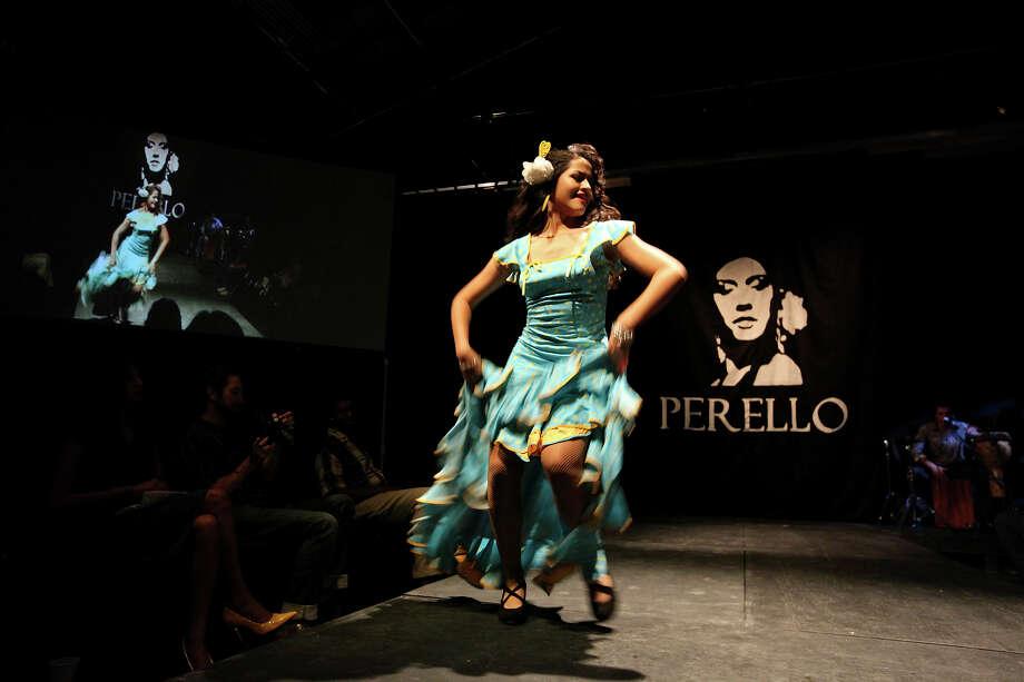 Daniella Espinoza, 16, shows her style and Perello's flamenco costume during the Perello All Flamenco Fashion Show.  Photo: Edward A. Ornelas, San Antonio Express-News / © 2012 San Antonio Express-News