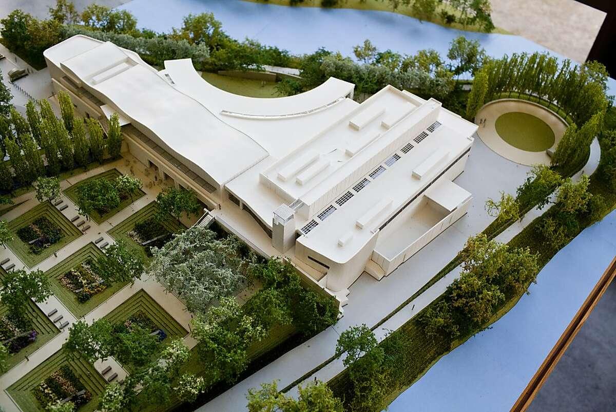 A architectural model of Copia in Napa.