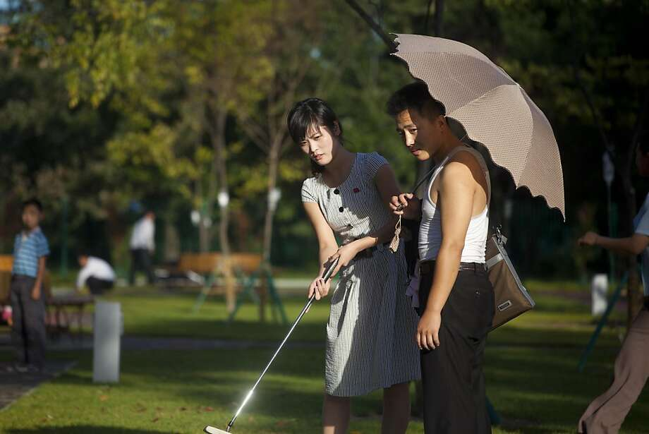 The wealthy and elite in Pyongyang have a variety entertainments, including miniature golf. Photo: David Guttenfelder, Associated Press