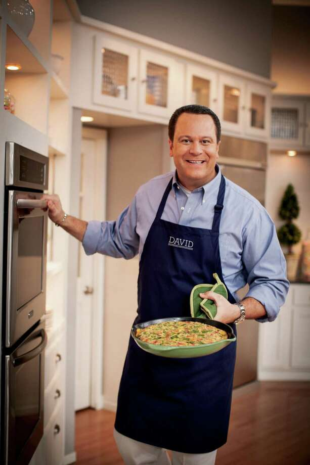 This undated publicity photo provided by The Random House Publishing Group, shows David Venable. Having a popular show on QVC, the shopping network, Dave Venable, QVC's self-proclaimed resident foodie, spends at least six hours a week on the air, and his fans are now pre-ordering his debut cookbook of comfort food, with recipes like cheesy cheeseburger casserole and bacon-topped mac 'n cheese, in numbers that resemble a hot new novel. (AP Photo/The Random House Publishing Group, Ben Fink Photography, Inc.) Photo: Ben Fink Photography, Inc.