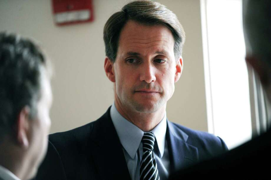 U.S. Rep. Jim Himes D-Conn., visits the Greenwich YMCA Himes to tour ongoing renovations which will soon be open to the public Tuesday, Sept. 18, 2012. Photo: Helen Neafsey / Greenwich Time