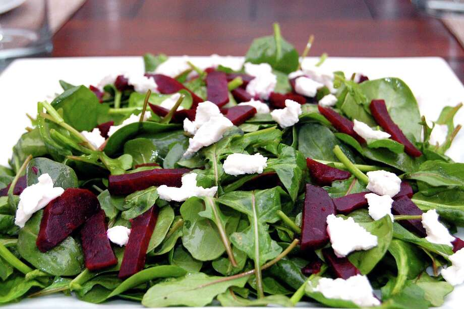 Roasted beets add to a salad. dishinaboutnutrition.wordpress.com