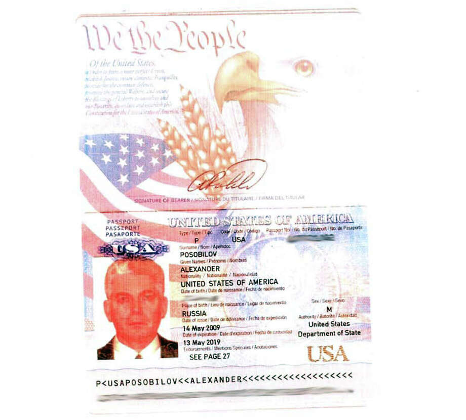 A U.S. passport issued to a major player in the case. Photo: Chronicle