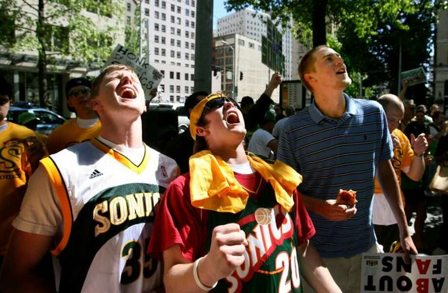 5. Angry Sonics jerseys:They're everywhere if you know where to look: disgruntled Sonics fans still sporting team gear. They're not holding out hope for a return -- they just want to be ready if they ever run into Howard Schultz. (Scott Eklund / Seattle Post-Intelligencer)